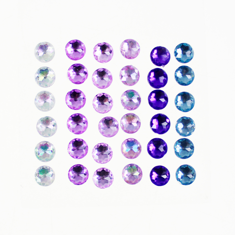 Adhésif Round Purple Gemstone