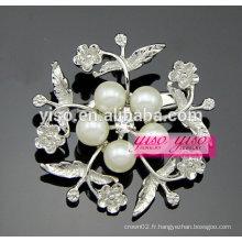 Perle strass diamant broche broche vintage