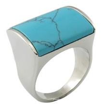 Moda de aço inoxidável jóias de pedra