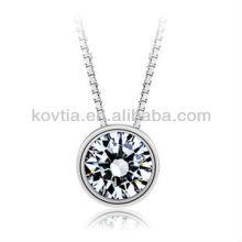 925 corazones del collar de la cadena de la plata esterlina y collar pendiente de las flechas