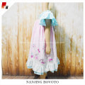 Pink floral printed fabric kid girl dress