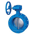China top quality fresh water ansi triple eccentric butterfly valve control hard sealing
