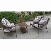 Rattan/Wicker Sofa Set/Furniture with Aluminum Tube, Measures 25 x 1.2mm