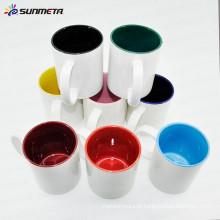 Sunmeta fabricante Alta Quanlity 11oz em branco sublimação caneca cor dentro