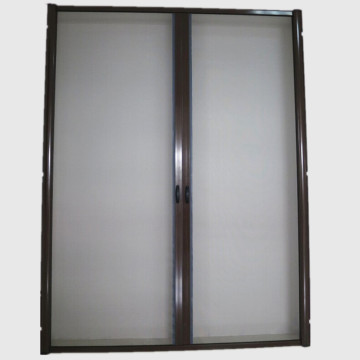 Excellent quality price for China Roller Insect Screen Door,Screen Rolling Tool,Curtain Door Manufacturer Double cassette rolling fly screen doors supply to Peru Exporter