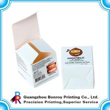 Offset impresión laminado broche de presión caja de papel cosmética