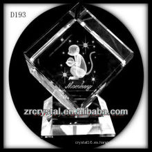 K9 3D Laser mono interior de cubo de cristal