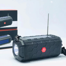 HA02 Amazon Best Selling Oem Factory Solar Woofer Outdoor Usb Wireless Stereo Bt Speaker With Led Lights