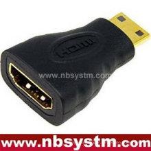 Para laptop Adaptador HDMI Um tipo fêmea para mini tipo HDMI C tipo