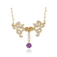 43082 Xuping jóias de moda 18k banhado a ouro colar de pingente de mulheres