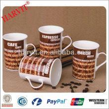 Taza de café de cerámica barata Tazas de café al por mayor / decorativas con la taza de la decoración / de agua potable