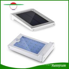 Luz solar, 25 LED de luz de sensor de movimiento accionado solar ultrabrillante inalámbrico, luz de seguridad al aire libre, para Patio Patio Patio Escaleras de jardín