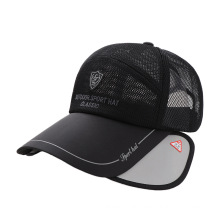 Spring Summer Embroidery Baseball Cap High Quality Hat Unisex Boys Girls Mesh Sports Retractable Sunscreen  Quick-Drying Sunhat