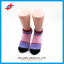 New arrival women colorful geometric patterned ladies' ankle sock/foot cover socks