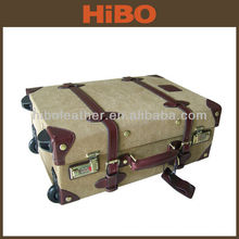 Холст и кожа багажа перемещения вагонетки