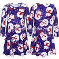 Long Sleeve Christmas Dress Family Clothes Outfits Same Dresses For Mother And Daughter