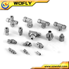 Stainless steel union tube fitting female branch tee pipe fitting tee
