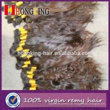 Welliges preiswertes 100% menschliches europäisches Haar-Masse
