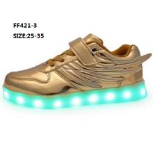 Sapatas populares do esporte da forma das sapatas do diodo emissor de luz das asas do OEM (FF421-3)