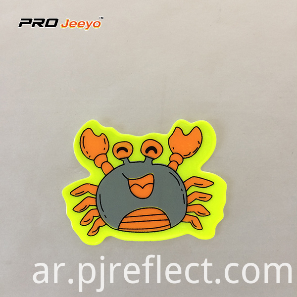 Reflective Adhesive Pvc Crab Shape Stickers For Children Rs Dw005