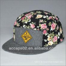 Blumen-Obersten 5-Panel-Hut