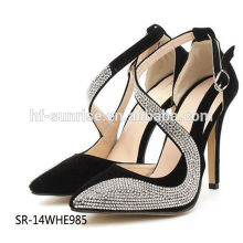 SR-14WHE985 fashion diamond high heel shoes sexy diamond high heel sandals ladies diamond high heel shoes