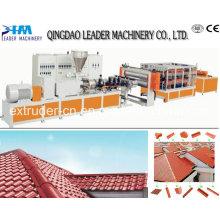 Línea de fabricación de paneles de techado de PVC