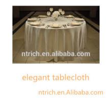 toalha de mesa baratos e de alta qualidade para casamento / banquete / festa / hotel, toalha de mesa do poliéster, toalha de mesa cetim