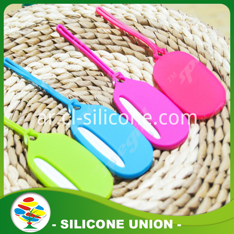 Ellipse multicolor silicone luggage tag
