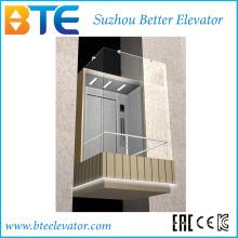 Ce 1600kg Gute Aussicht Panorama Aufzug mit Maschinenraum
