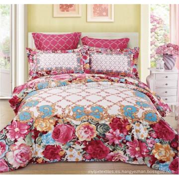 Uso de lujo de la boda del estilo Uso del lecho de la colcha del edredón con las cubiertas de la almohadilla Tamaño King