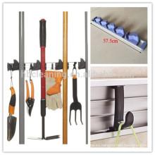 Soporte de herramientas de jardín de 5 posiciones de aluminio con 4 ganchos