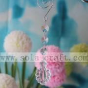 Kunststof kristallen lamp kroonluchter Prisms kerst Ornament
