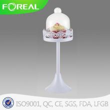 Metall Cupcake Stand mit Glaskuppel