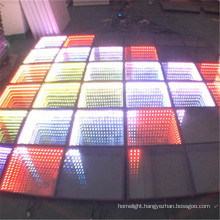 Tempered Glass Portable Interactive LED Dance Floor Light 3D Infinity Dance Floor