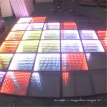Закаленное стекло портативный Интерактивная танцплощадка СИД света 3D бесконечность танцпол