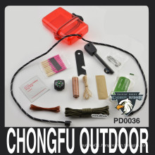 2015 New pocket Waterproof box paracord survival gear