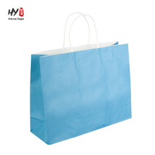 Factory supply custom printed kraft paper gift tote bag