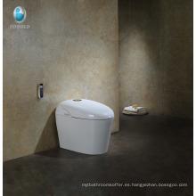 Detector de movimiento con asiento calefactado blanco de algodón pequeño Elemento inteligente con control remoto de lavado automático con bidé de inodoro