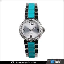Reloj del cuarzo del movt de Japón de la manera de la señora