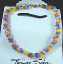 Thomas Sabo Reconstructed Crystal Stretch Necklace, Mixed color