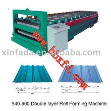 Hoja doble de hoja de metal que forma la máquina