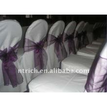 Couverture de chaise de banquet standard, CT023 polyester matière, durable et facile lavable