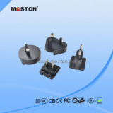 Interchangeable multi pin power adapter comply with safety standard