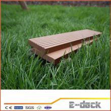 Wasserdichte glatte Oberfläche WPC solide Decking für Garten Anwendung