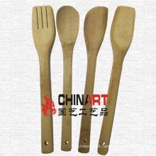 Conjunto de utensílios de cozinha de bambu (CB05)