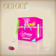 Safe hygienic healthy plastic sanitary tampons