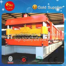 Máquina formadora de rolos de telha de aço com cor automática de alta qualidade PLC
