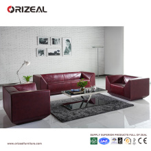 Orizeal Quality Living Room Furniture Red Sofa Set (OZ-OSF018)