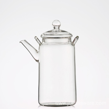 Coffee Tea Leaf Modern Glass Teapot